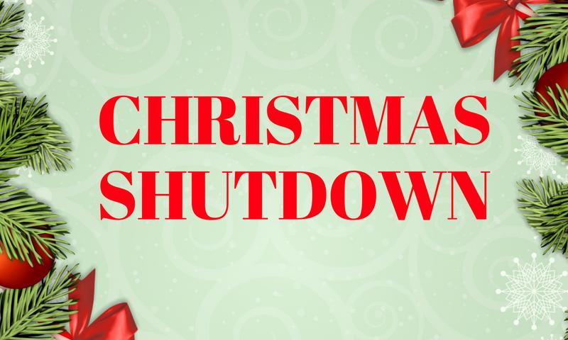 Christmas Holiday Shutdown